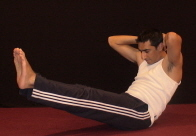Ab Crunches Ending Position - Variation 2